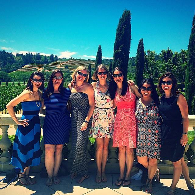 Group photo of women at Domaine Carneros Winery